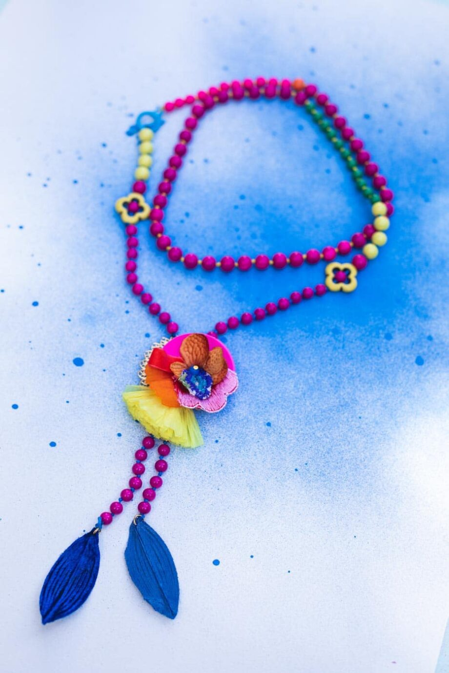 Spring flowers necklace_01