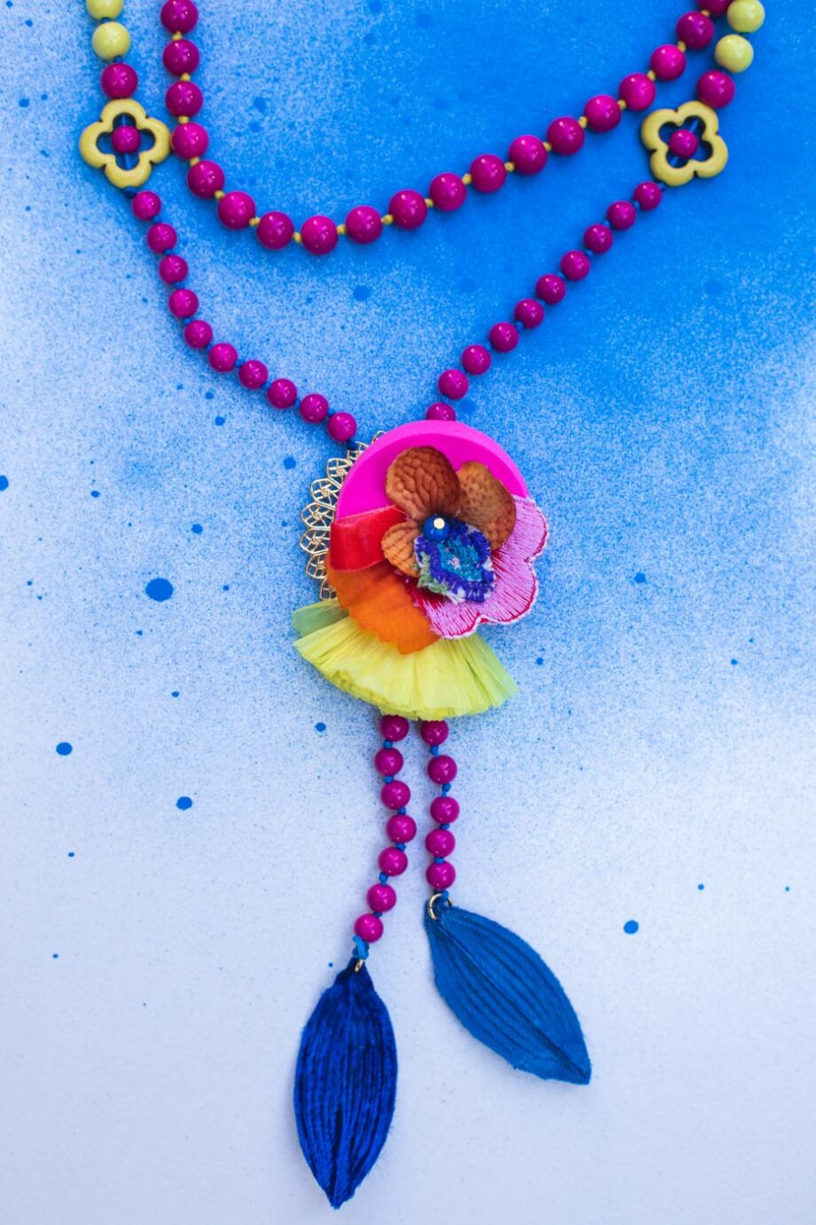 Spring flowers necklace_02